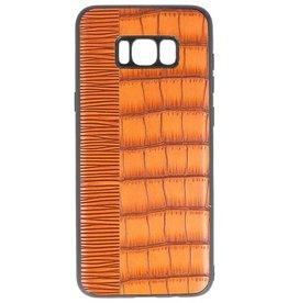 Croco Hartschalenetui für Samsung Galaxy S8 Plus Braun