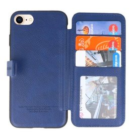 Back Cover Book Design Case for iPhone 8 Blue
