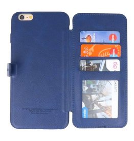Back Cover Book Design Hoesje voor iPhone 6 Plus Blauw