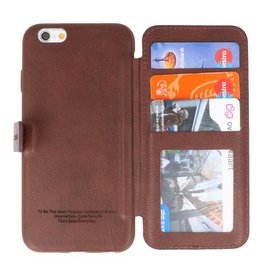 Back Cover Buch Design Case für iPhone 6 Mocca