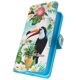 Bookstyle Case for Galaxy S8 Plus 3D Print Toucan