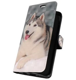 Bookstyle Case for Galaxy S9 Plus 3D Print Dog