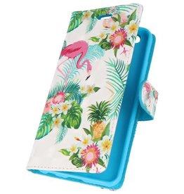 Bookstyle Tasche für Huawei P20 3D Print Flamingo