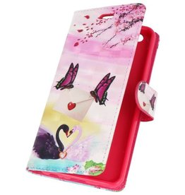 Bookstyle Case for Huawei P20 3D Print Butterfly