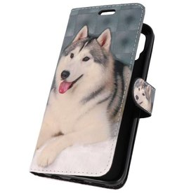 Bookstyle Case for Huawei P20 Pro 3D Print Dog