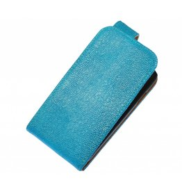 Devil Classic Flip Hoes voor Galaxy S5 G900F Turquoise