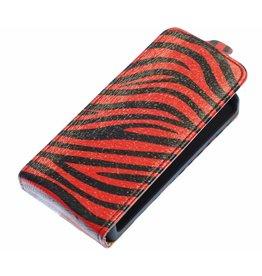 Zebra Flip Case for Galaxy S3 i9300 Red