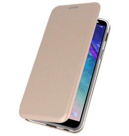 Slim Folio Case for Galaxy A6 2018 Gold