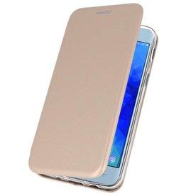 Schlanke Folio Case für Galaxy J3 2018 Gold