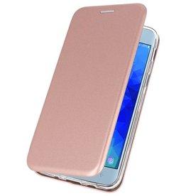 Schlanke Folio Case für Galaxy J3 2018 Pink