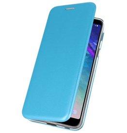 Schlanke Folio Case für Galaxy A6 Plus 2018 Blau