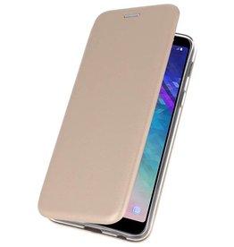 Slim Folio Case for Galaxy A6 Plus 2018 Gold