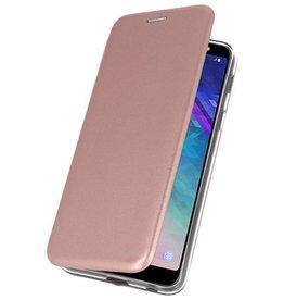 Schlanke Folio Case für Galaxy A6 Plus 2018 Pink