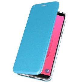 Slim Folio Case voor Galaxy J8 2018 Blauw
