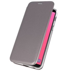 Slim Folio Case voor Galaxy J8 2018 Grijs