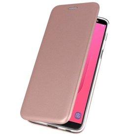 Slim Folio Case voor Galaxy J8 2018 Roze