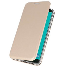 Slim Folio Case voor Galaxy J6 2018 Goud