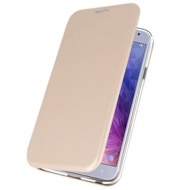 Schlanke Folio Case für Galaxy J4 2018 Gold