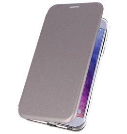 Slim Folio Case voor Galaxy J4 2018 Grijs