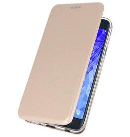 Slim Folio Case voor Galaxy J7 2018 Goud