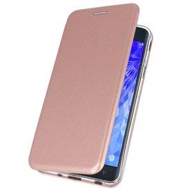 Schlanke Folio Case für Galaxy J7 2018 Pink