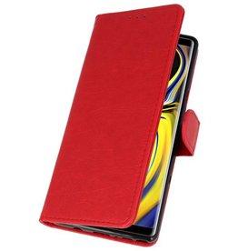 Bookstyle Wallet Hüllen für Galaxy Note 9 Rot