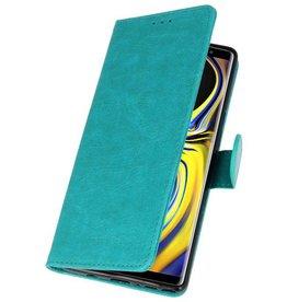 Bookstyle Wallet Cases für Galaxy Note 9 Grün