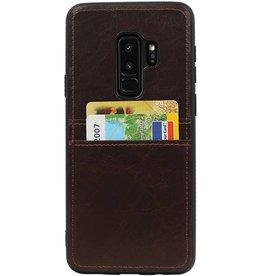 Rückseite 2 Karten für Galaxy S9 Plus Mocca