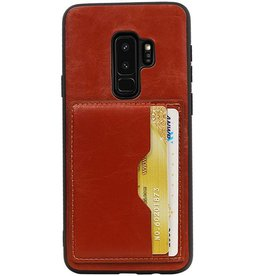 Portrait Back Cover 2 Cards for Galaxy S9 Plus Brown