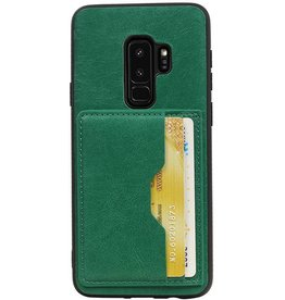 Portrait Back Cover 2 Cards for Galaxy S9 Plus Green