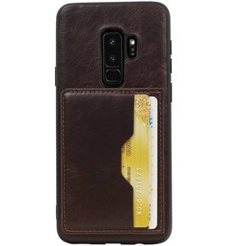 Staand Back Cover 2 Pasjes voor Galaxy S9 Plus Mocca