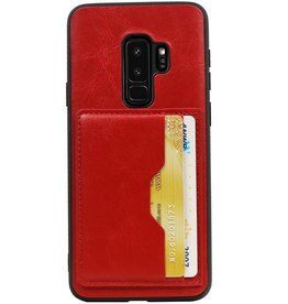 Staand Back Cover 2 Pasjes voor Galaxy S9 Plus Rood