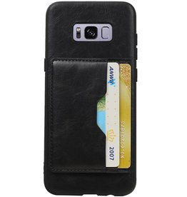 Portrait Rückseite 2 Karten für Galaxy S8 Plus Schwarz