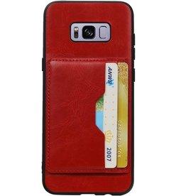 Portrait Rückseite 2 Karten für Galaxy S8 Plus Rot