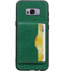 Portrait Rückseite 2 Karten für Galaxy S8 Plus Grün