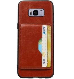 Portrait Rückseite 2 Karten für Galaxy S8 Plus Braun