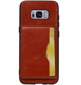 Portrait Back Cover 1 Cards for Galaxy S8 Brown