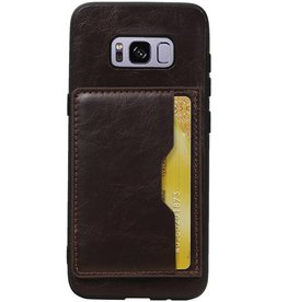 Standing Back Cover 1 Cards for Galaxy S8 Mocca