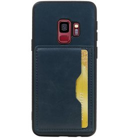 Portrait Back Cover 1 Cards for Galaxy S9 Navy