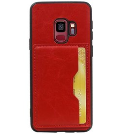 Portrait Back Cover 1 Cards for Galaxy S9 Red