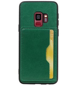 Portrait Back Cover 1 Cards for Galaxy S9 Green