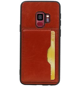 Portrait Back Cover 1 Cards for Galaxy S9 Brown