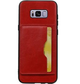 Portrait Back Cover 1 Cards for Galaxy S8 Plus Red