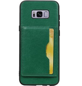 Portrait Back Cover 1 Cards for Galaxy S8 Plus Green