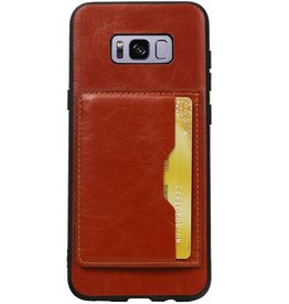 Portrait Back Cover 1 Cards for Galaxy S8 Plus Brown