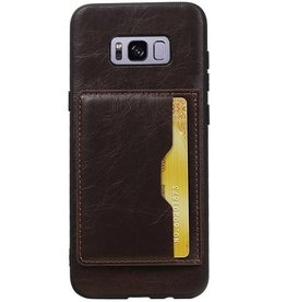 Standing Back Cover 1 Cards for Galaxy S8 Plus Mocca