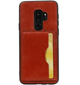Portrait Back Cover 1 Cards for Galaxy S9 Plus Brown
