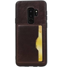 Standing Back Cover 1 Cards for Galaxy S9 Plus Mocca