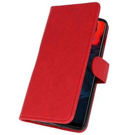 Bookstyle Wallet Cases Case for One Plus 6 Red