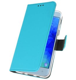 Wallet Cases Case for Galaxy J3 2018 Blue